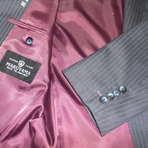 スーツ袖ボタンの穴かがり糸