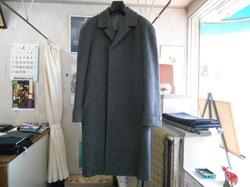 ウールオーバーコートのお直し